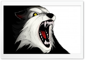 Angry Wolf HD Wide Wallpaper for Widescreen