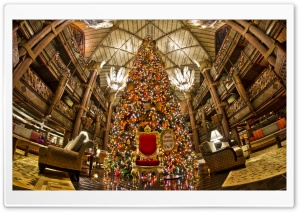 Animal Kingdom Lodge Christmas Tree HD Wide Wallpaper for 4K UHD Widescreen desktop & smartphone