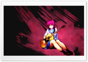 Anime Acoustic Guitar HD Wide Wallpaper for Widescreen