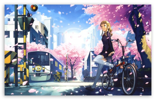 gallery for anime city background