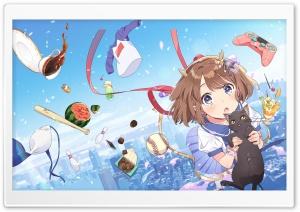 Anime, Girl, Black Cat Ultra HD Wallpaper for 4K UHD Widescreen desktop, tablet & smartphone