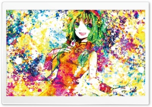 Anime Girl Colorful HD Wide Wallpaper for Widescreen