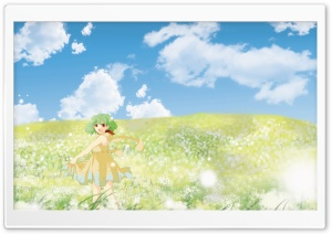 Anime Girl In Flower Field HD Wide Wallpaper for 4K UHD Widescreen desktop & smartphone