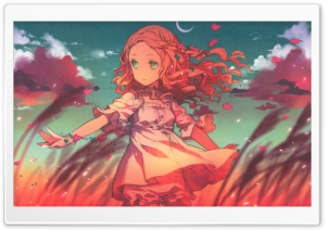 Anime Girl In The Wind HD Wide Wallpaper for Widescreen