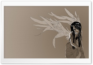 Anime Girl With Wings HD Wide Wallpaper for Widescreen