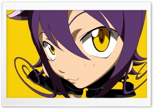 Anime Girl With Yellow Eyes HD Wide Wallpaper for Widescreen