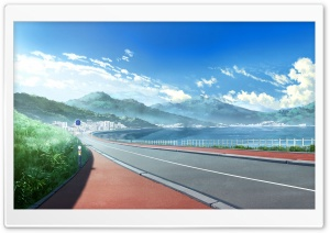 Anime Landscape HD Wide Wallpaper for Widescreen