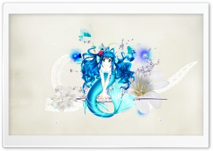 Anime Mermaid HD Wide Wallpaper for Widescreen
