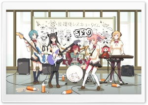 Anime Music Band HD Wide Wallpaper for Widescreen