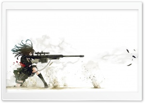 Anime Sniper HD Wide Wallpaper for Widescreen