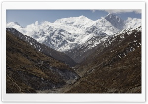 Annapurna Range HD Wide Wallpaper for 4K UHD Widescreen desktop & smartphone