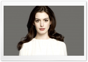 Anne Hathaway Portrait HD Wide Wallpaper for Widescreen