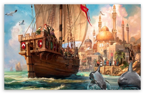 Anno 1404 Game Artwork HD wallpaper for Wide 16:10 5:3 Widescreen WHXGA WQXGA WUXGA WXGA WGA ; HD 16:9 High Definition WQHD QWXGA 1080p 900p 720p QHD nHD ; Standard 5:4 3:2 Fullscreen QSXGA SXGA DVGA HVGA HQVGA devices ( Apple PowerBook G4 iPhone 4 3G 3GS iPod Touch ) ; Mobile 5:3 3:2 16:9 5:4 - WGA DVGA HVGA HQVGA devices ( Apple PowerBook G4 iPhone 4 3G 3GS iPod Touch ) WQHD QWXGA 1080p 900p 720p QHD nHD QSXGA SXGA ;