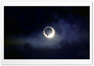 Annular Eclipse HD Wide Wallpaper for 4K UHD Widescreen desktop & smartphone