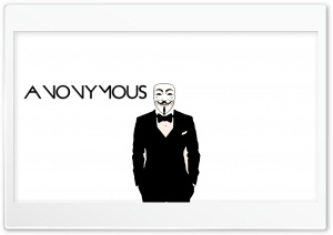 Anonymous Ultra HD Wallpaper for 4K UHD Widescreen desktop, tablet & smartphone