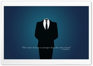 Anonymous Art HD Wide Wallpaper for Widescreen