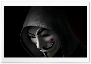 Anonymous Hoody HD Wide Wallpaper for Widescreen