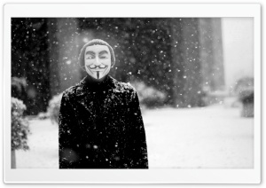 Anonymous Mask HD Wide Wallpaper for Widescreen