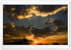 Another African Sunset HD Wide Wallpaper for Widescreen
