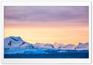 Antarctica Sunset Ultra HD Wallpaper for 4K UHD Widescreen desktop, tablet & smartphone