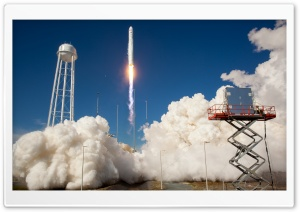Antares Rocket Test Launch HD Wide Wallpaper for Widescreen