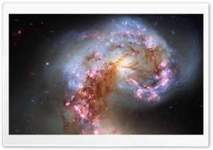 Antennae Galaxies HD Wide Wallpaper for Widescreen