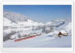 Appenzell Railways in a Winter Wonderland HD Wide Wallpaper for 4K UHD Widescreen desktop & smartphone