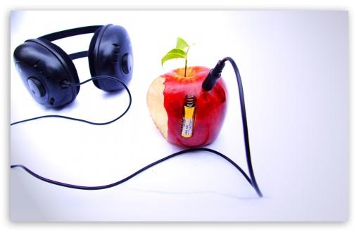 Apple And Headphones HD wallpaper for Wide 16:10 5:3 Widescreen WHXGA WQXGA WUXGA WXGA WGA ; HD 16:9 High Definition WQHD QWXGA 1080p 900p 720p QHD nHD ; Standard 4:3 5:4 3:2 Fullscreen UXGA XGA SVGA QSXGA SXGA DVGA HVGA HQVGA devices ( Apple PowerBook G4 iPhone 4 3G 3GS iPod Touch ) ; iPad 1/2/Mini ; Mobile 4:3 5:3 3:2 16:9 5:4 - UXGA XGA SVGA WGA DVGA HVGA HQVGA devices ( Apple PowerBook G4 iPhone 4 3G 3GS iPod Touch ) WQHD QWXGA 1080p 900p 720p QHD nHD QSXGA SXGA ;