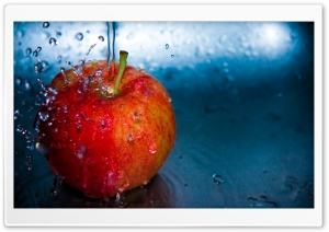 Apple And Water HD Wide Wallpaper for Widescreen