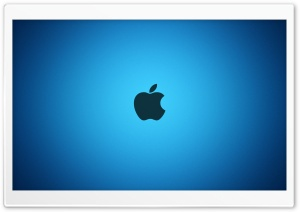 Apple Blue Logo HD Wide Wallpaper for 4K UHD Widescreen desktop & smartphone