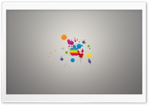 Apple Colorful Splash HD Wide Wallpaper for Widescreen