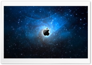 Apple Galaxy Blue HD Wide Wallpaper for Widescreen