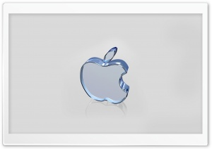 Apple Glass Logo HD Wide Wallpaper for Widescreen