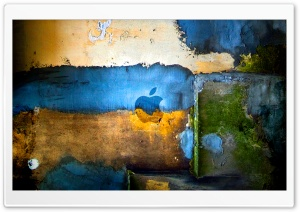 Apple Graffiti HD Wide Wallpaper for Widescreen