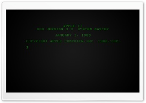 Apple II Boot Screen Ultra HD Wallpaper for 4K UHD Widescreen desktop, tablet & smartphone