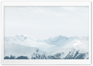 Apple iOS Snow Mountains HD Wide Wallpaper for Widescreen