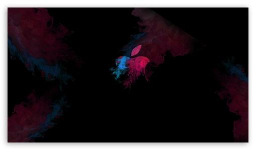 Apple Logo Magic Color Smoke Ultra Hd Desktop Background