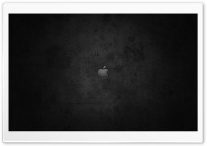 Apple Logo On Dark Background HD Wide Wallpaper for Widescreen