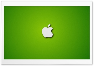 Apple Logo on Noisy Green Background HD Wide Wallpaper for Widescreen