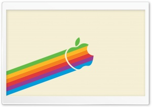 Apple Logo Rainbow HD Wide Wallpaper for 4K UHD Widescreen desktop & smartphone