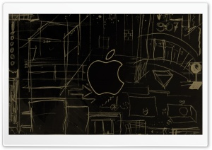 Apple Logo Sketch HD Wide Wallpaper for 4K UHD Widescreen desktop & smartphone