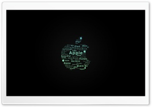Apple Logo Typography HD Wide Wallpaper for Widescreen