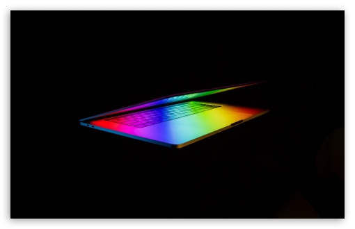 Download Apple MacBook Pro Laptop Colorful Background HD Wallpaper