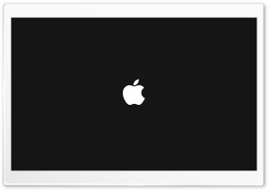 Apple On Black Background HD Wide Wallpaper for Widescreen