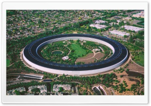 Apple Park, Cupertino, California, Aerial View Ultra HD Wallpaper for 4K UHD Widescreen desktop, tablet & smartphone