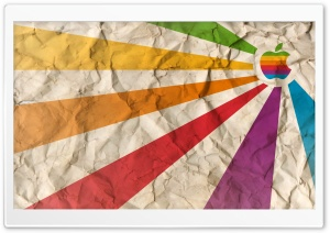 Apple Rainbow HD Wide Wallpaper for Widescreen