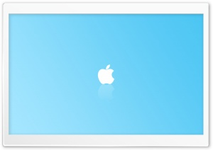 Apple Simple Blue HD Wide Wallpaper for Widescreen