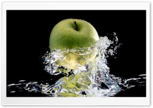 Apple Splash HD Wide Wallpaper for Widescreen
