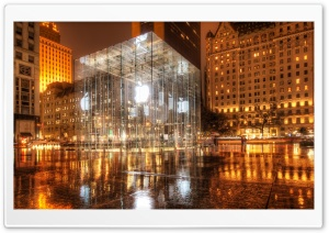 Apple Store, New York HD Wide Wallpaper for 4K UHD Widescreen desktop & smartphone