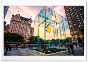 Apple Store NYC HD Wide Wallpaper for 4K UHD Widescreen desktop & smartphone